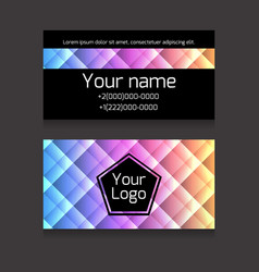 Polygonal colorful double-sided business card vector
