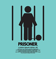 Prisoner In Jail Symbol vector image