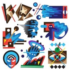 Psychology - abstract symbols vector