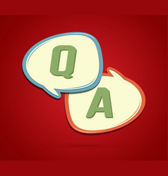 question and answer text in balloons vector image
