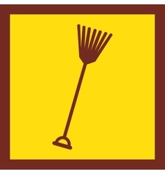 Rake tool farm icon vector
