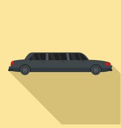 retro limousine icon flat style vector image