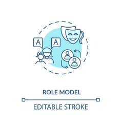 Role model concept icon vector