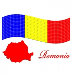 Romanian flag and map vector