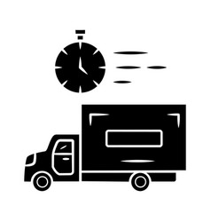 same day delivery glyph icon fast shipping vector image