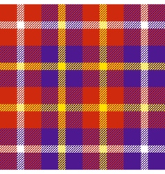 Seamless plaid pattern in red purple white and vector