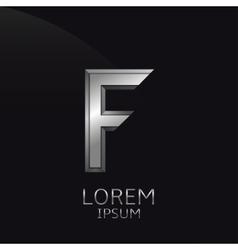 Silver F Letter emblem vector