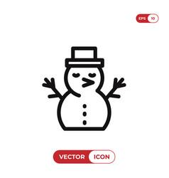 snowman icon christmaswinter symbol flat sign vector image