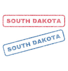 south dakota textile stamps vector image