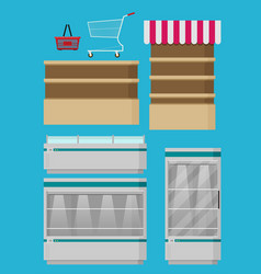 supermarket set for design flat vector image