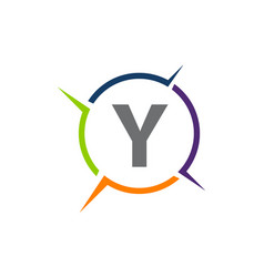 synergy solution process letter y vector image