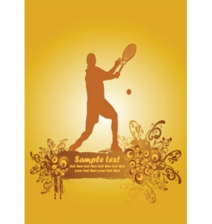 tennis poster3 vector image