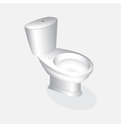 toilet bowl realistic vector image