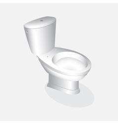 Toilet bowl realistic vector