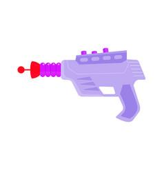 vintage laser gun alien weapon isolated on white vector image