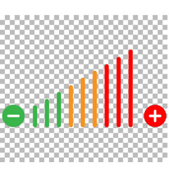 volume adjustment icon volume adjustment on vector image