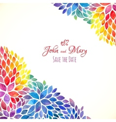 Watercolor painted rainbow colors invitation vector
