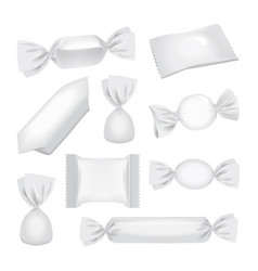 white foil pack for candies and other products vector image