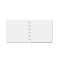 White realistic a5 notebook opened with shadows vector