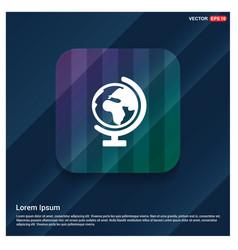 World globe icon vector