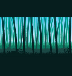 background of landscape with stems of bamboo vector image