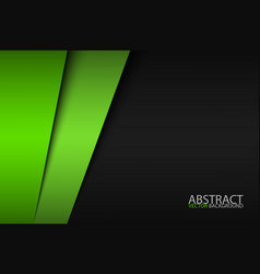 black and green modern material design corporate vector image