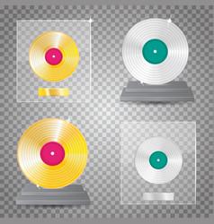 lp platinum lp gold set vector image vector image