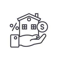 property investment concept thin line icon vector image