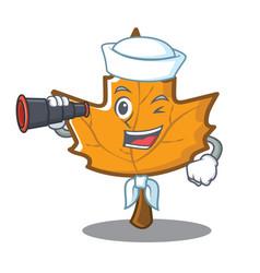 Sailor maple character cartoon style vector