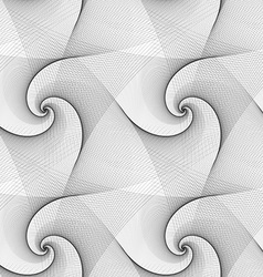 Seamless abstract black white spiral pattern vector