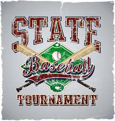 baseball State tournament vector image vector image