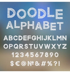 Decorative doodle alphabet vector image
