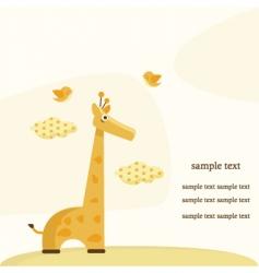 giraffe background vector image