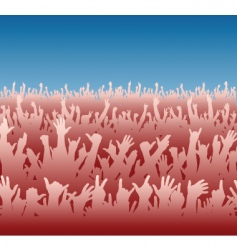red crowd vector image vector image