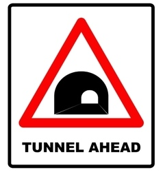 Russia tunnel ahead sign vector