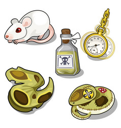 set of laboratory tests and hypnosis vector image vector image