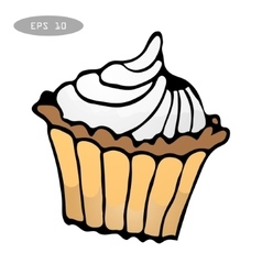 Sweet colorful cupcake vector image