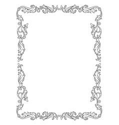 vintage ornament frame vector image