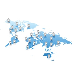 World map communications concept vector image vector image