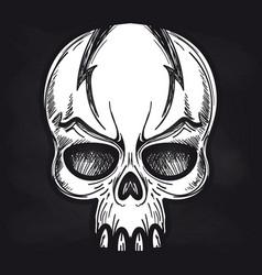 agressive monsters skull on blackboard vector image