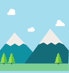 flat natural landscape vector image