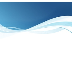 Smooth blue lines abstract background vector image vector image