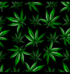 marijuana leaf pattern vector image