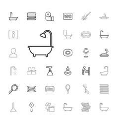33 bathroom icons vector