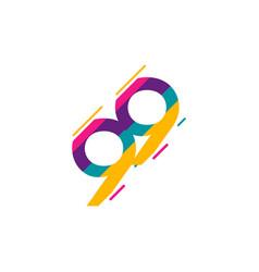 99 years anniversary celebration logo template vector