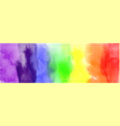 Abstract colorful rainbow watercolor for vector