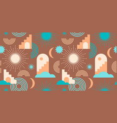 abstract geometric seamless pattern contemporary vector image