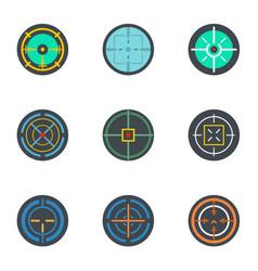aim icon set flat style vector image