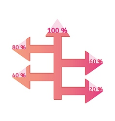 arrows with percentage vector image