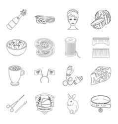 atelier sports art and other web icon in outline vector image